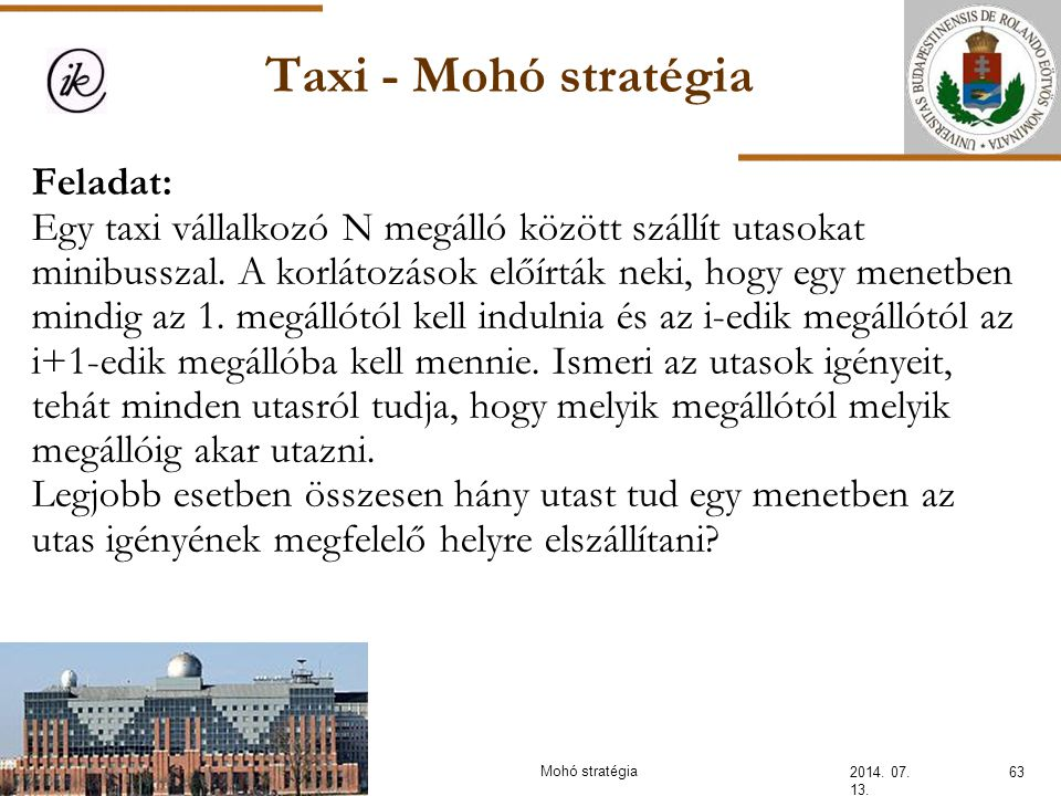 INFOÉRA 2006 2006.11.18. Taxi - Mohó stratégia.