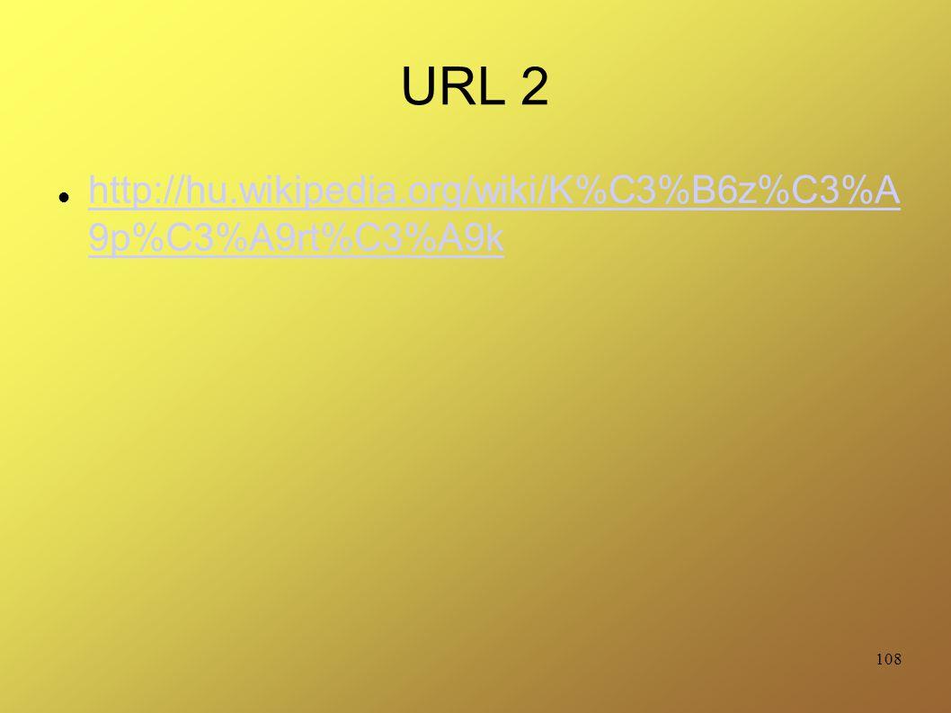 URL 2 http://hu.wikipedia.org/wiki/K%C3%B6z%C3%A 9p%C3%A9rt%C3%A9k