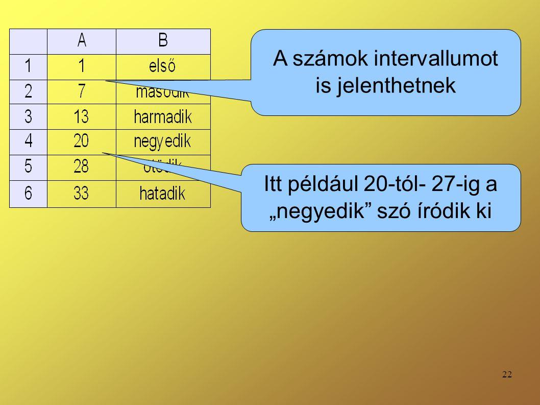 A számok intervallumot is jelenthetnek