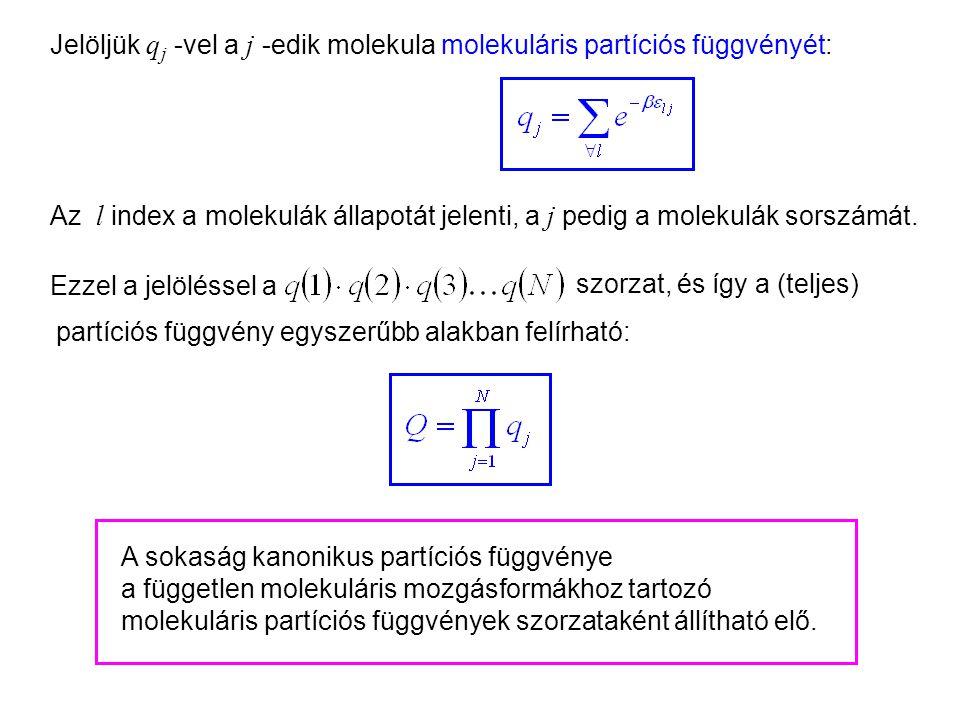 Kanonikus partíciós függvény 2