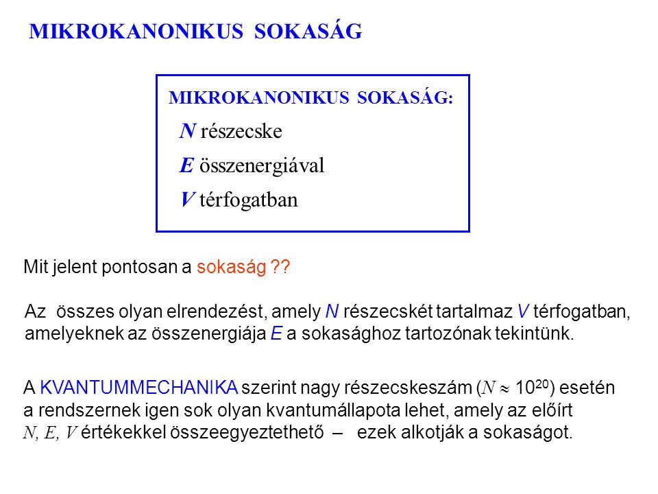 MIKROKANONIKUS SOKASÁG 1