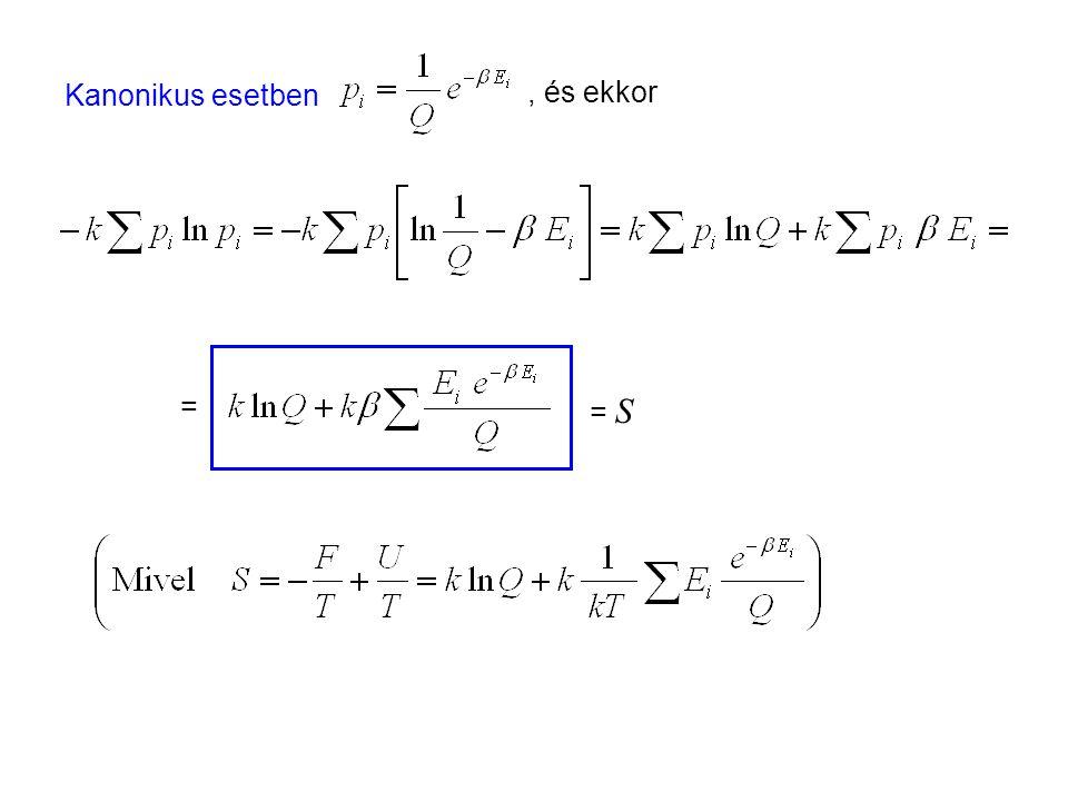 Az entrópia mint rendezetlenség 2