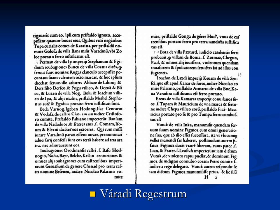 Váradi Regestrum