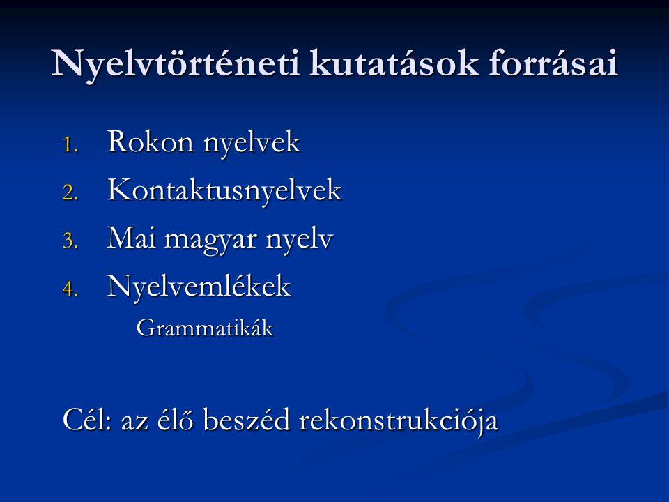 Nyelvtörténeti kutatások forrásai