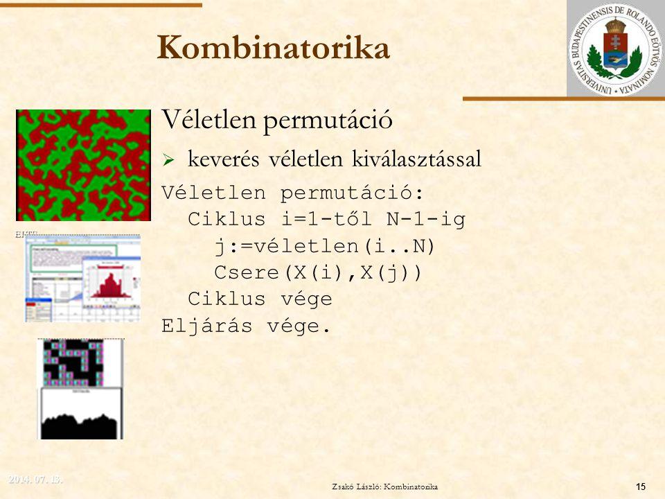 Zsakó László: Kombinatorika
