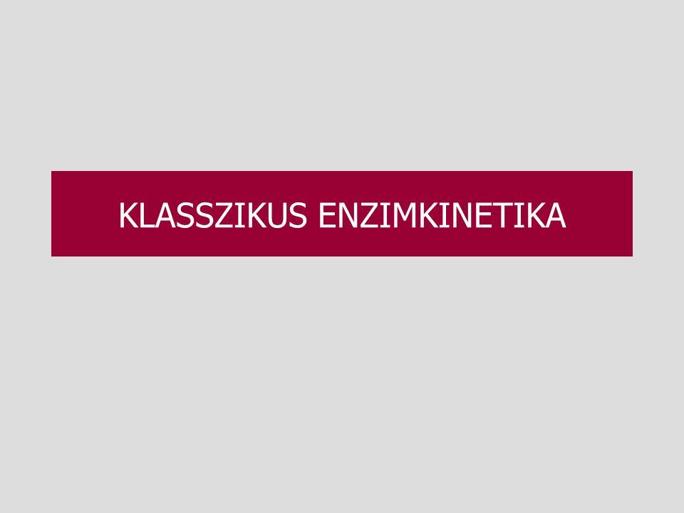 KLASSZIKUS ENZIMKINETIKA