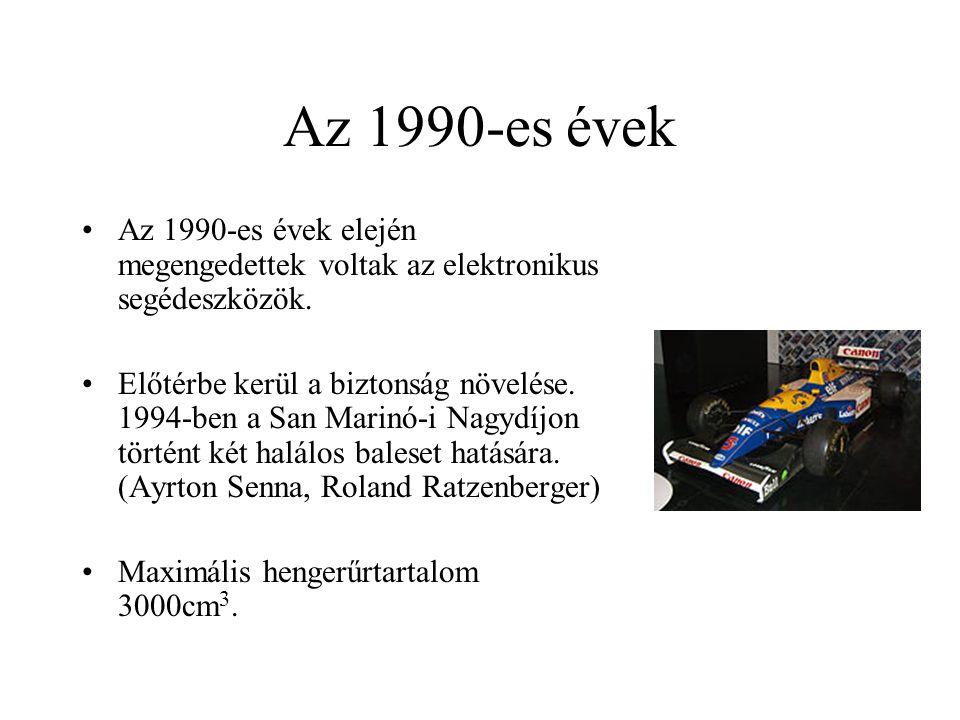 Az 1990-es évek Az 1990-es évek elején megengedettek voltak az elektronikus segédeszközök.