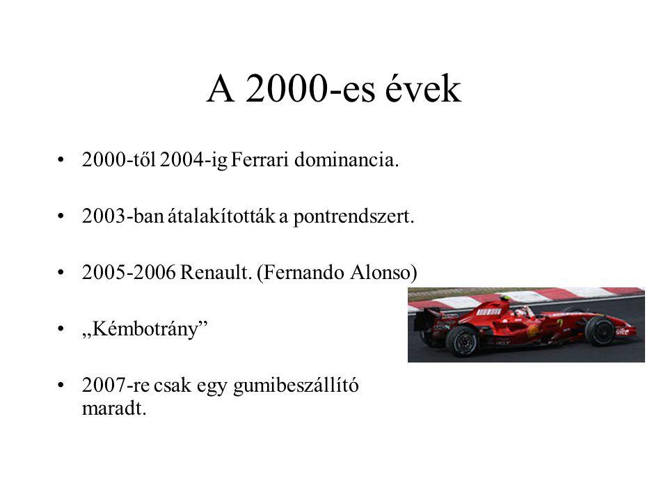 A 2000-es évek 2000-től 2004-ig Ferrari dominancia.