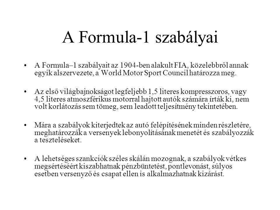 A Formula-1 szabályai