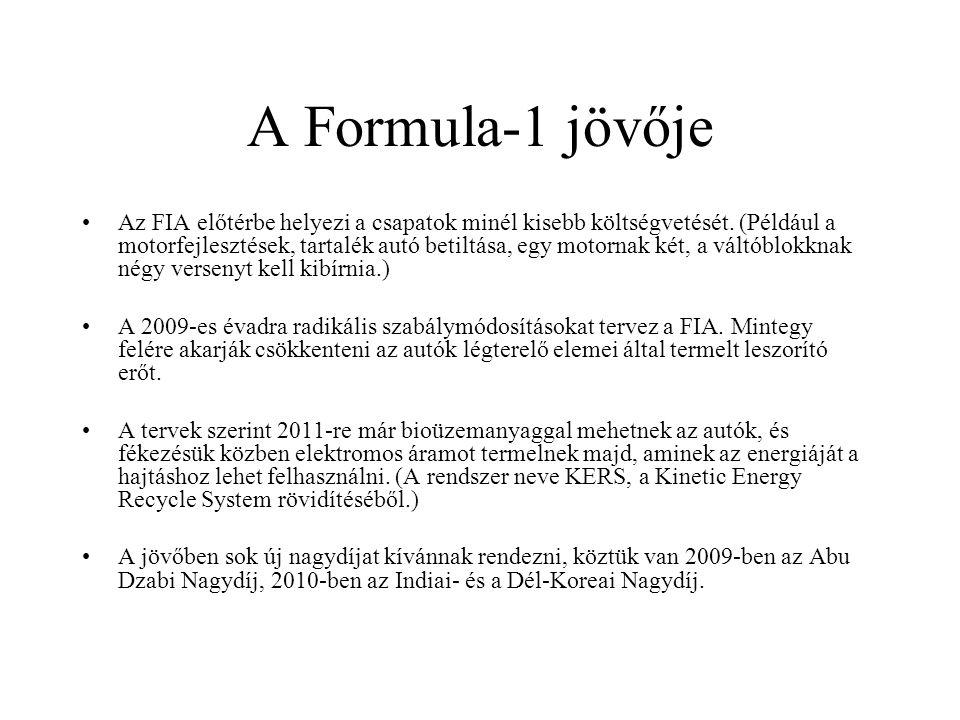 A Formula-1 jövője