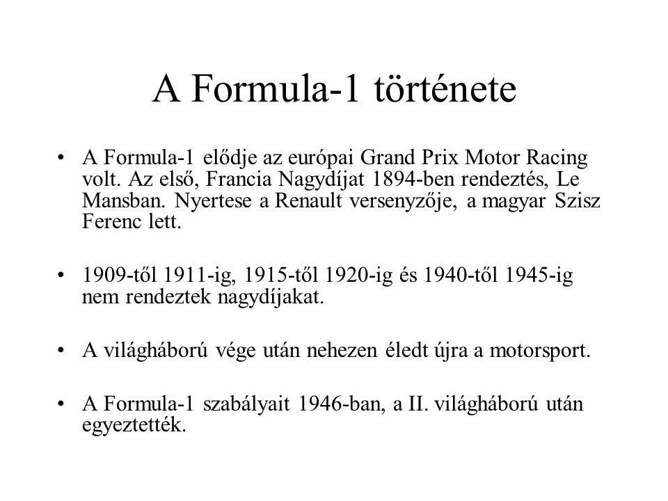 A Formula-1 története