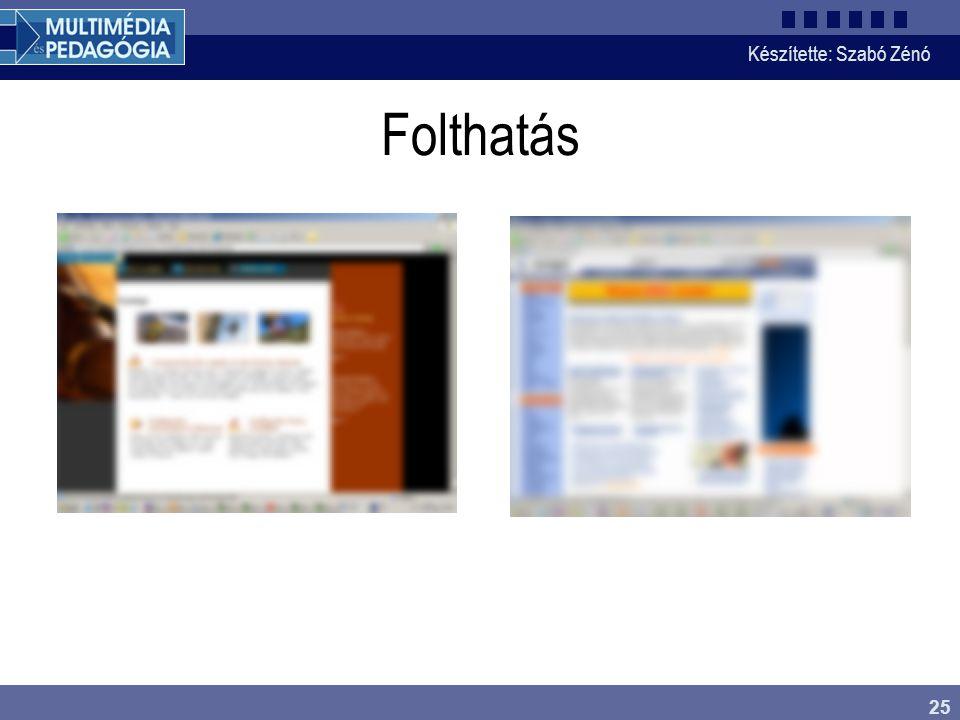 2017.04.04. Folthatás. Az előbbiek szemléltetésére nézzük két weboldal elhomályosított képét. Melyek a legfontosabbnak tűnő területek