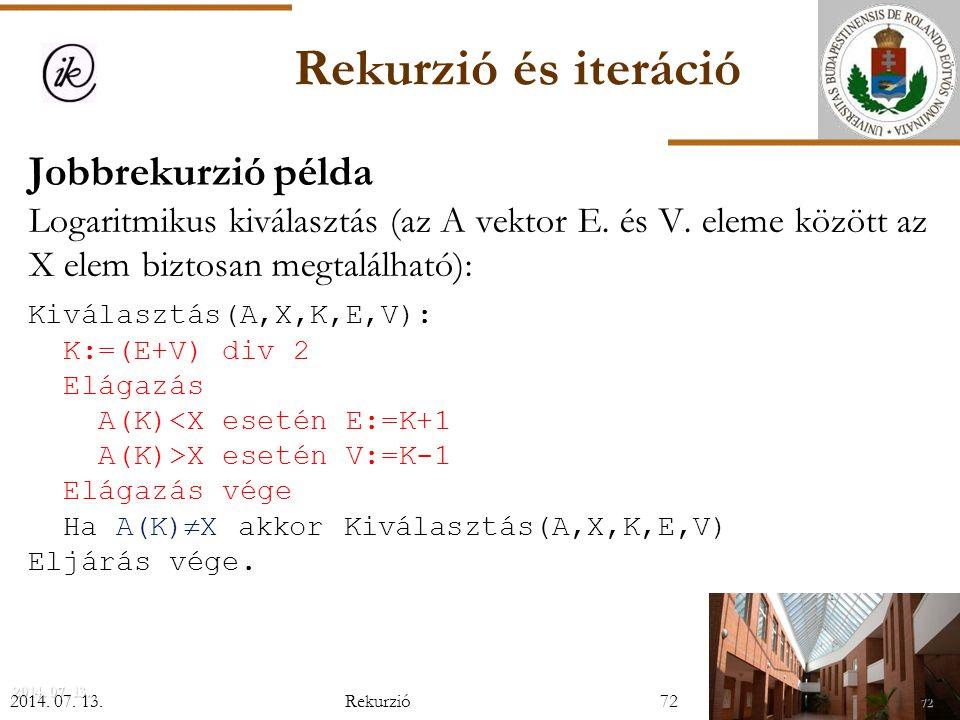 INFOÉRA 2006 2006.11.18. Rekurzió és iteráció.
