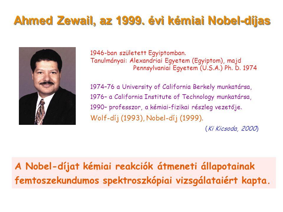 Ahmed Zewail, az 1999. évi kémiai Nobel-díjas