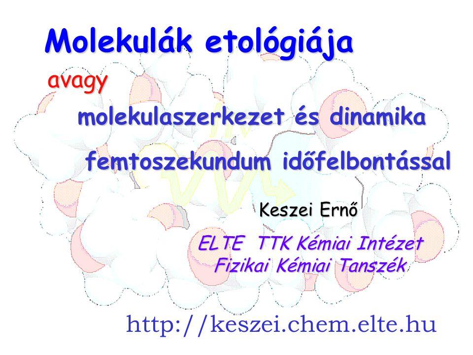ELTE TTK Kémiai Intézet Fizikai Kémiai Tanszék