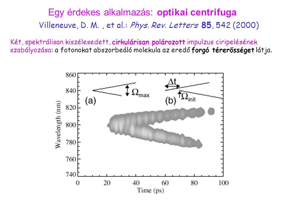 Egy érdekes alkalmazás: optikai centrifuga