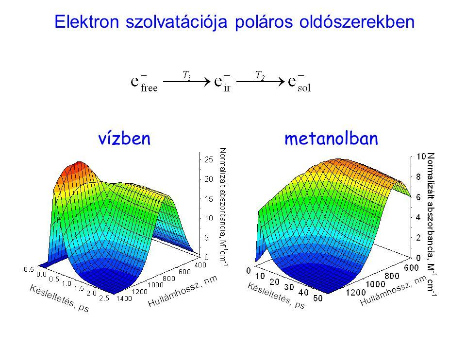 Elektron szolvatációja poláros oldószerekben