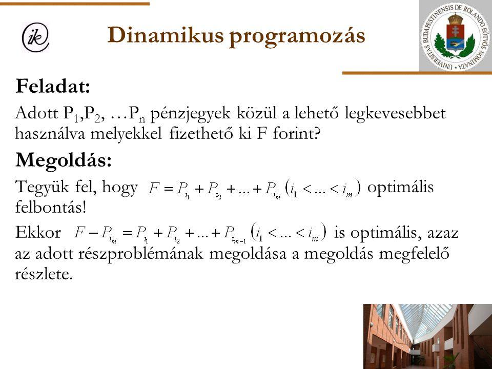 Dinamikus programozás