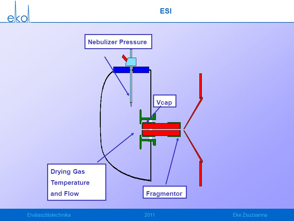ESI Vcap Fragmentor Nebulizer Pressure Drying Gas Temperature and Flow