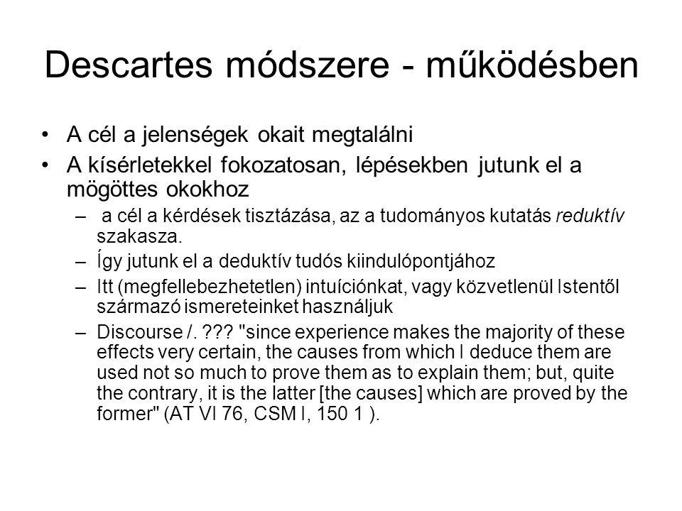 Descartes módszere - működésben