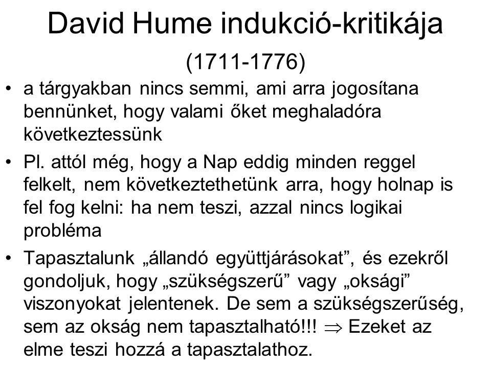 David Hume indukció-kritikája (1711-1776)