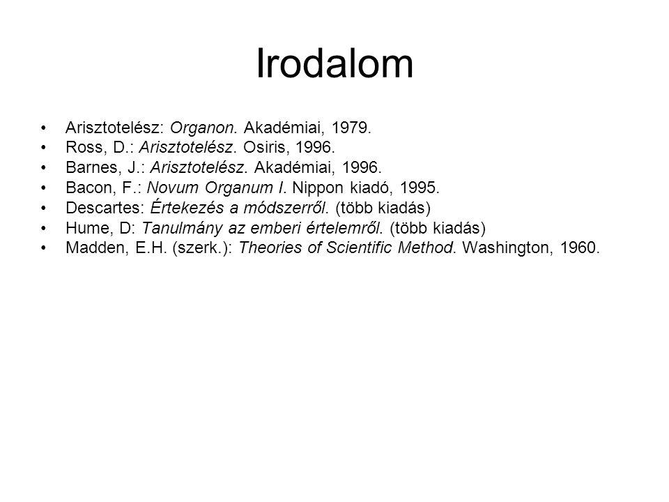 Irodalom Arisztotelész: Organon. Akadémiai, 1979.