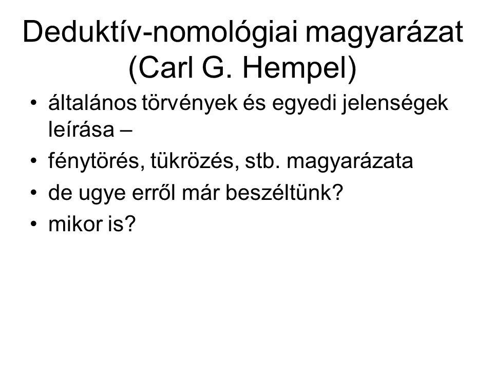 Deduktív-nomológiai magyarázat (Carl G. Hempel)