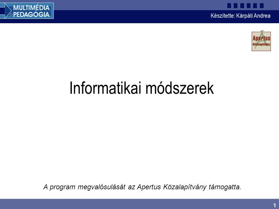 Informatikai módszerek