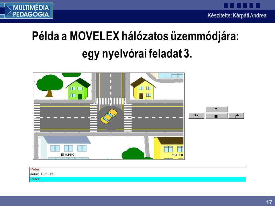 Példa a MOVELEX hálózatos üzemmódjára: egy nyelvórai feladat 3.