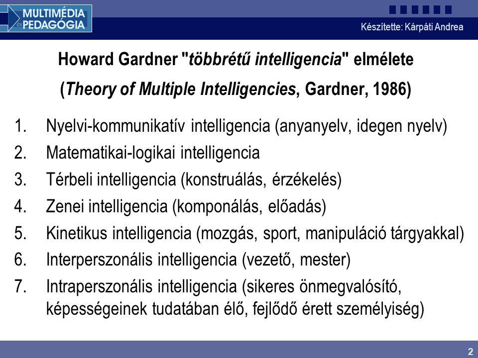 Nyelvi-kommunikatív intelligencia (anyanyelv, idegen nyelv)