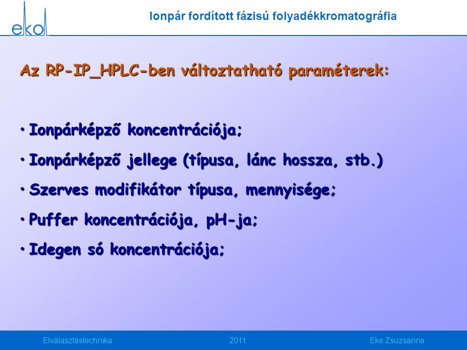 Ionpár fordított fázisú folyadékkromatográfia