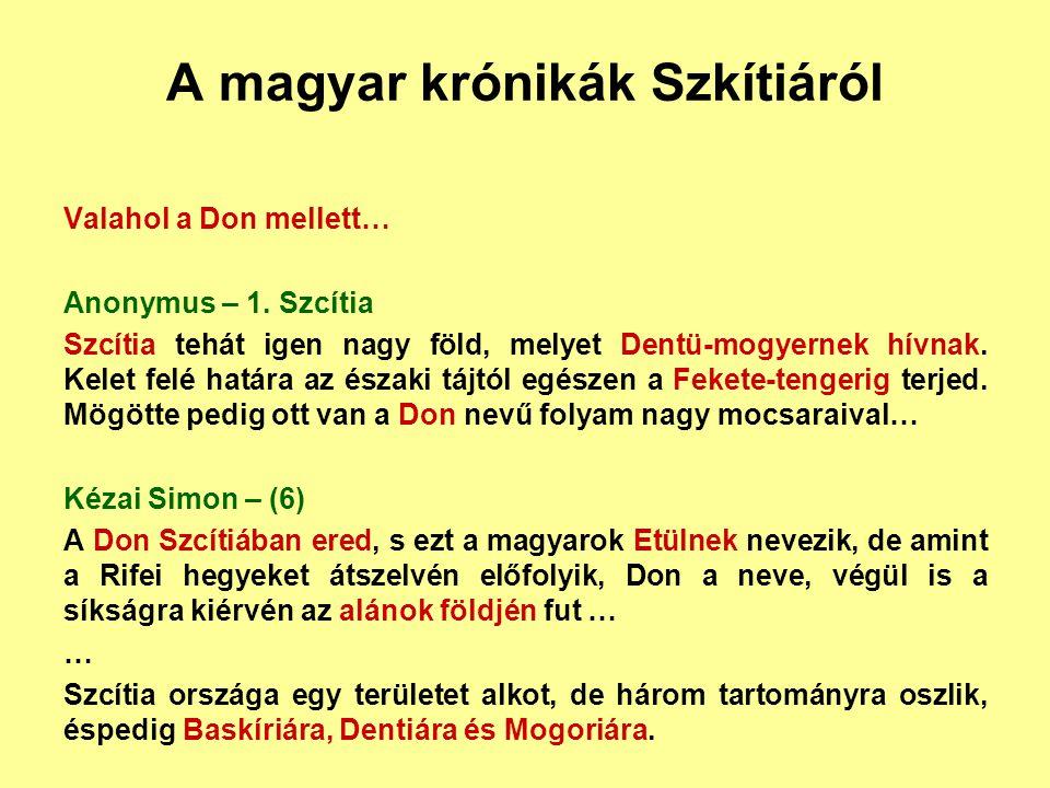 A magyar krónikák Szkítiáról