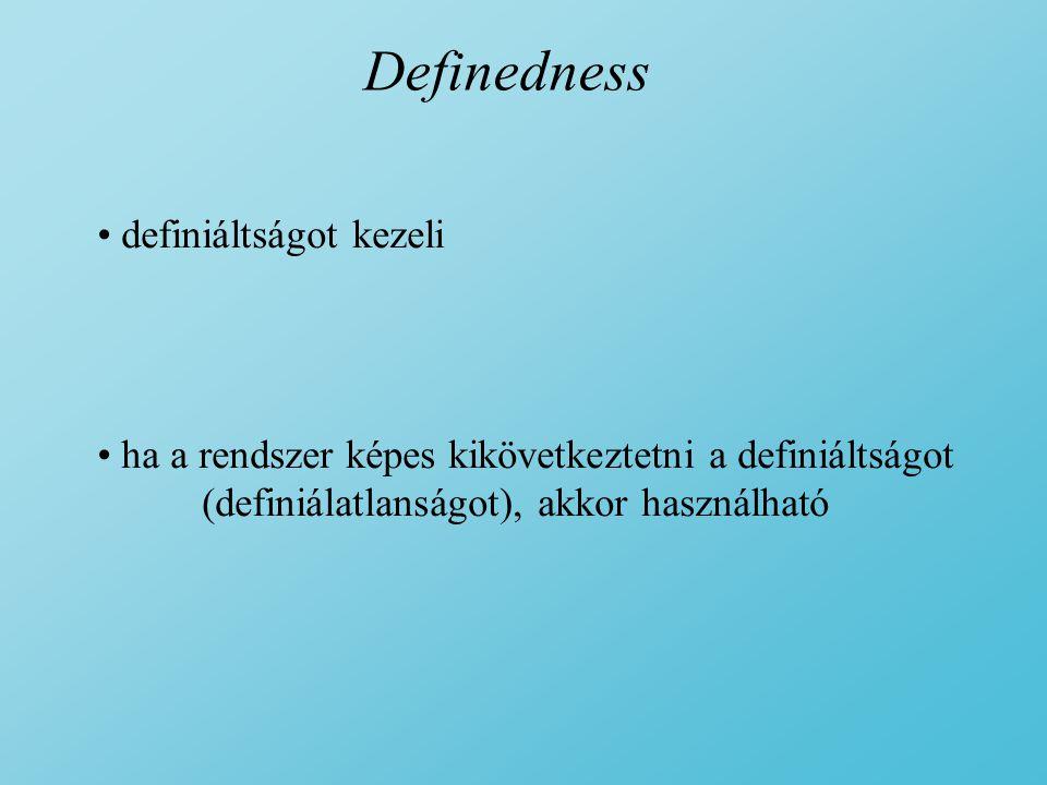 Definedness definiáltságot kezeli