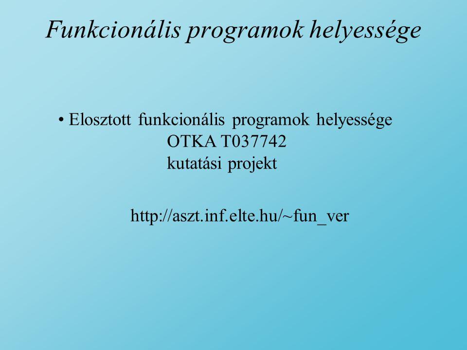 Funkcionális programok helyessége