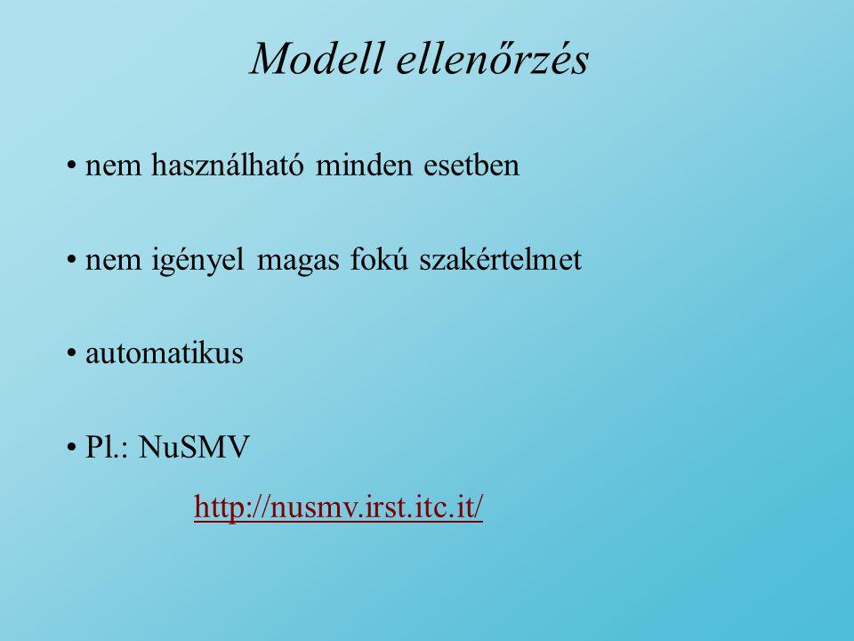Modell ellenőrzés nem használható minden esetben