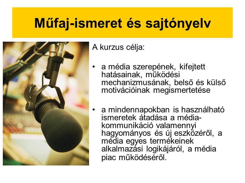 Műfaj-ismeret és sajtónyelv