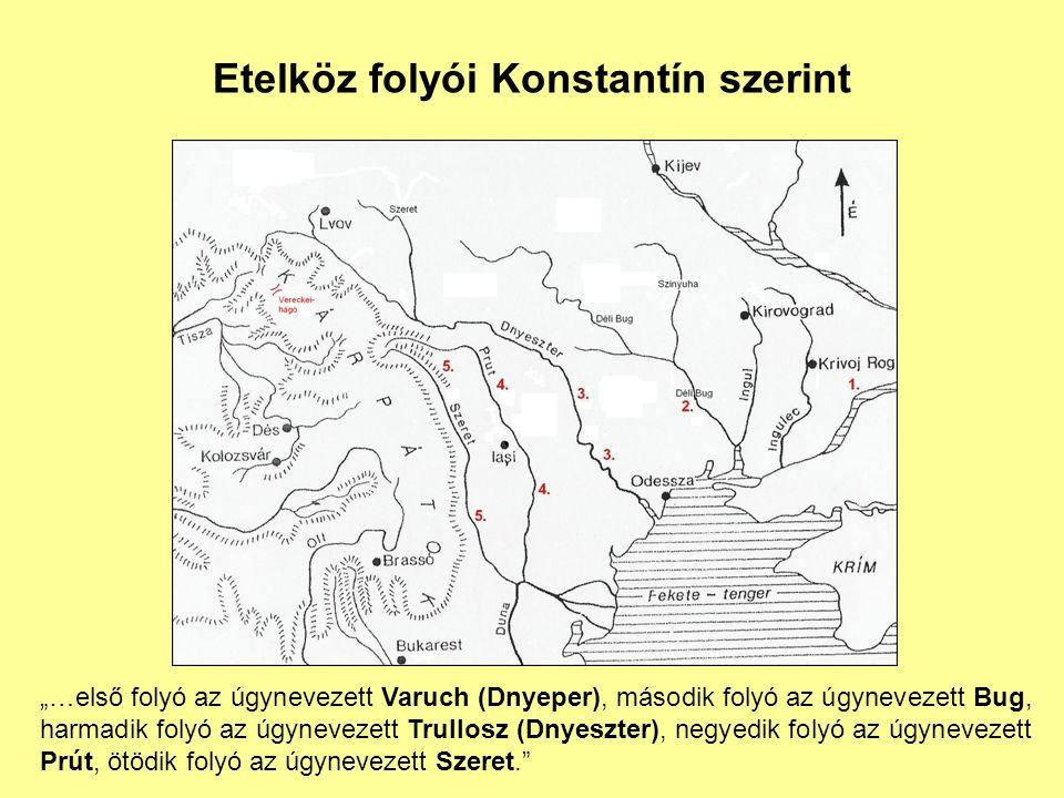 Etelköz folyói Konstantín szerint