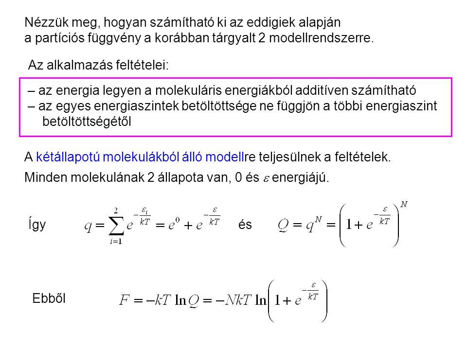 Kétállapotú molekulák kanonikus leírása