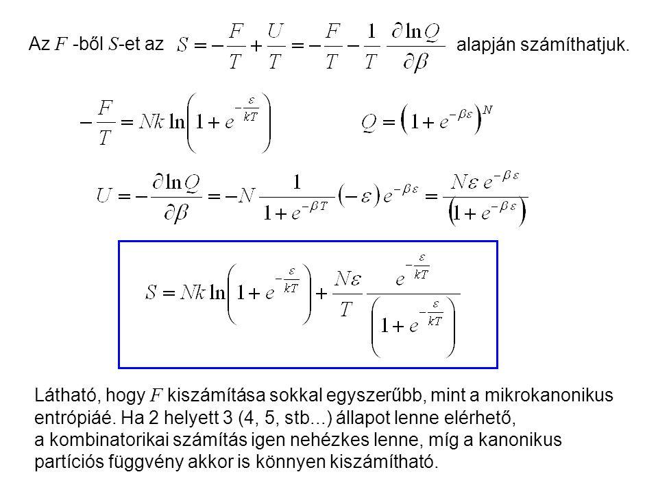 Kétállapotú molekulák kanonikus leírása 2