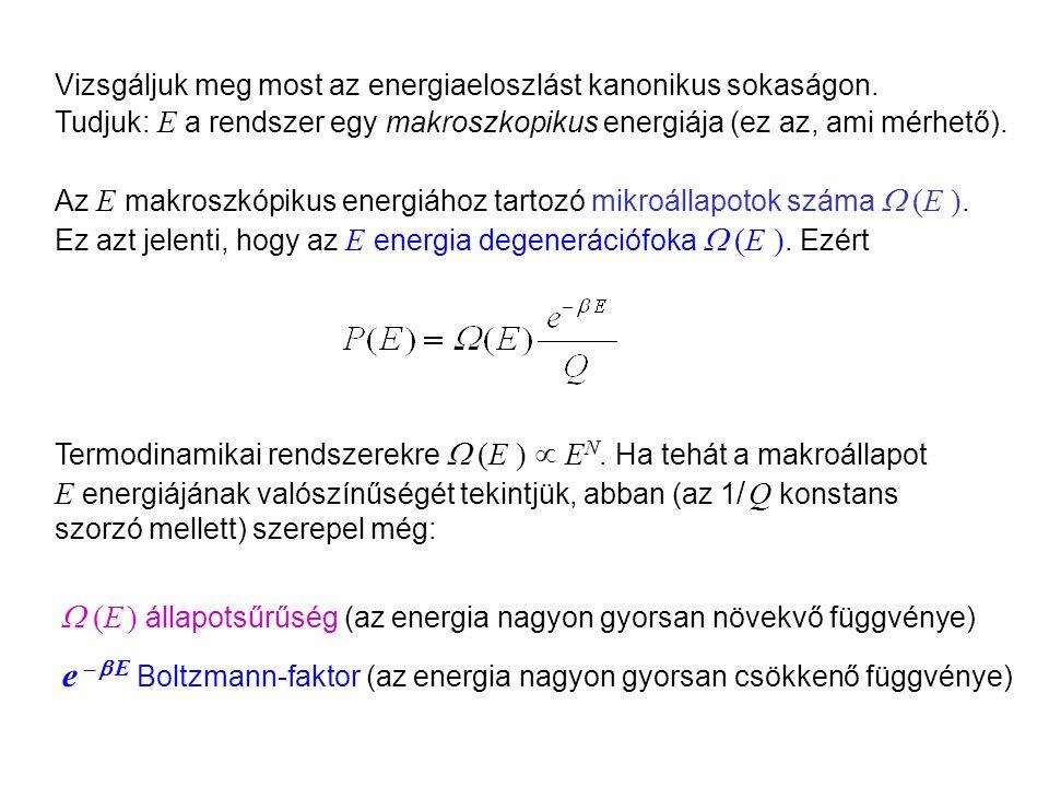 A makroszkopikus energia kanonikus sűrűségfüggvénye 1
