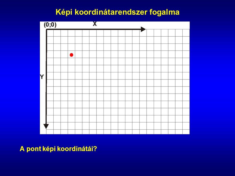 Képi koordinátarendszer fogalma