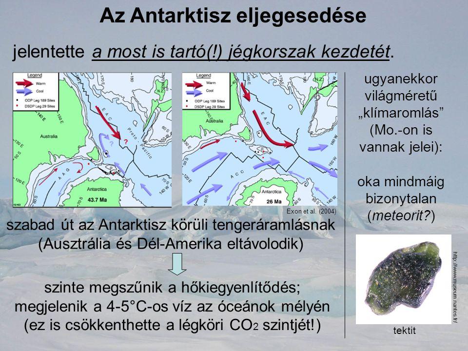 Az Antarktisz eljegesedése