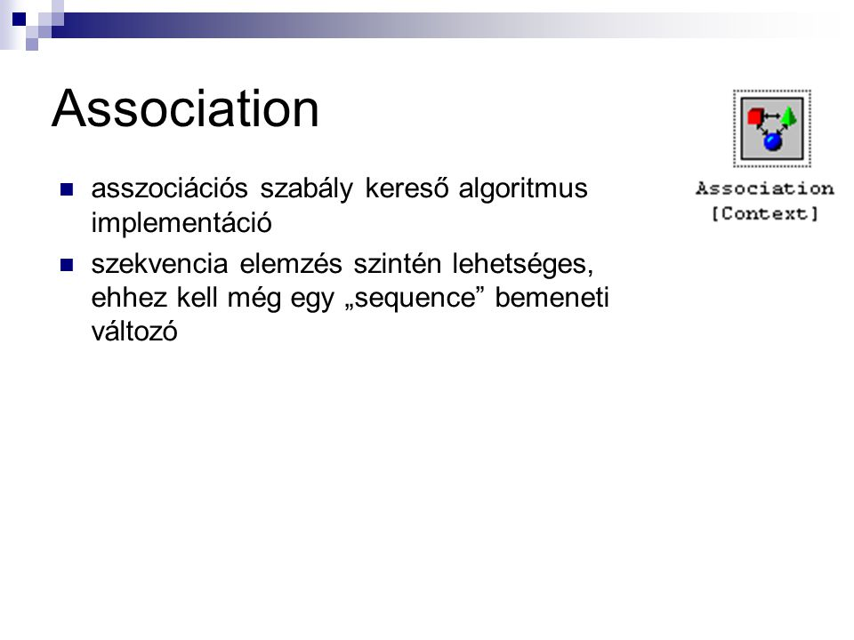 Association asszociációs szabály kereső algoritmus implementáció