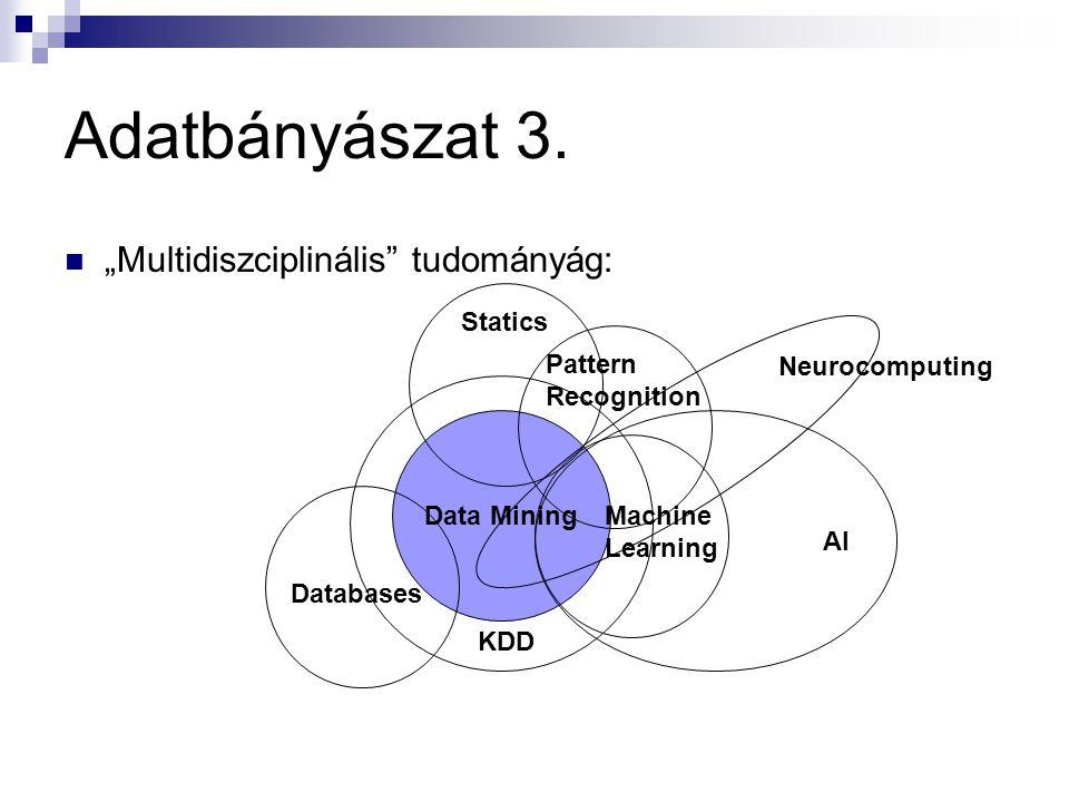 """Adatbányászat 3. """"Multidiszciplinális tudományág: Statics"""