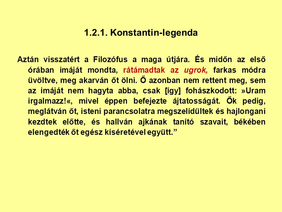 1.2.1. Konstantin-legenda