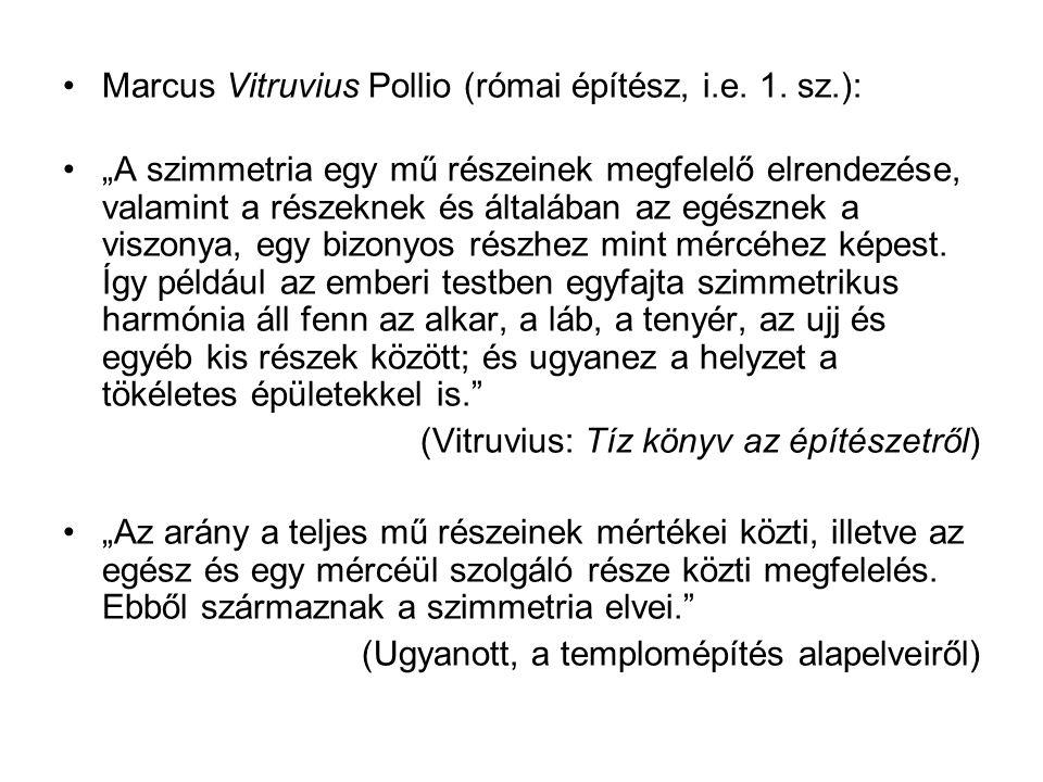 Marcus Vitruvius Pollio (római építész, i.e. 1. sz.):