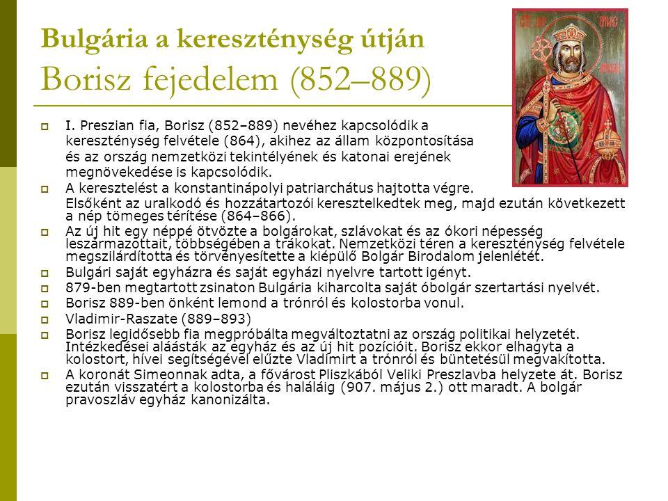 Bulgária a kereszténység útján Borisz fejedelem (852–889)