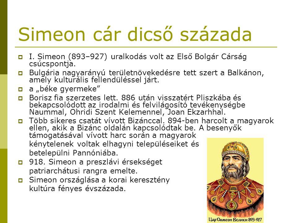 Simeon cár dicső százada