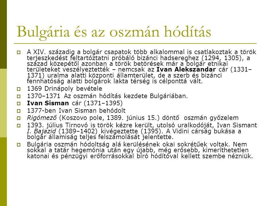 Bulgária és az oszmán hódítás