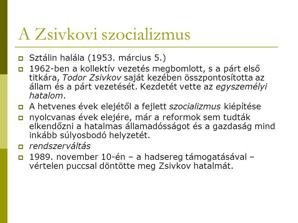 A Zsivkovi szocializmus